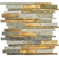 Natursteinmosaik XSK 565 mix grau/braun 30x31 cm