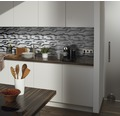 Aluminiummosaik grau/schwarz/silber 29,8x33,8 cm