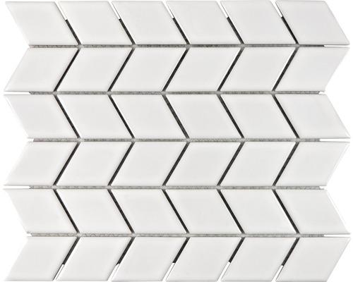 Keramikmosaik DS W02W 26,6x30,75 cm weiß
