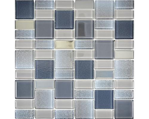 Glasmosaik Dazzle 13G 30x30 cm mix grau