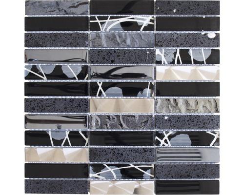 Keramikmosaik Day 29X 29,8x29,8 cm mix schwarz