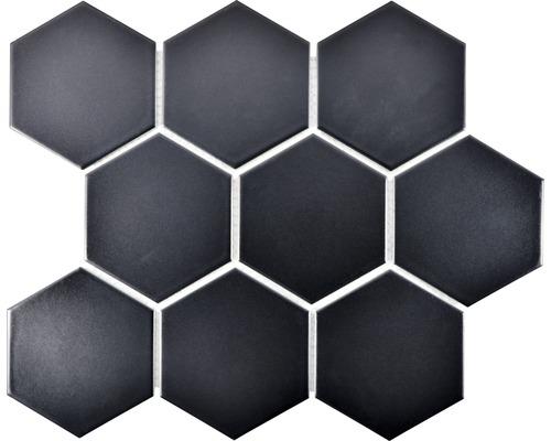 Keramikmosaik HX 115 25,6x29,5 cm schwarz matt