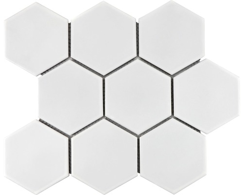 Keramikmosaik HX 105 25,6x29,5 cm weiß matt