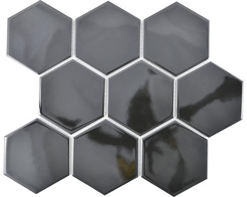 Keramikmosaik HX 110 25,6x29,5 cm schwarz