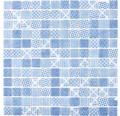 Glasmosaik Patch 40 31,5x31,5 cm blau