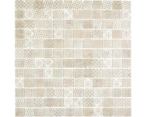 Glasmosaik Patch 50 31,5x31,5 cm beige