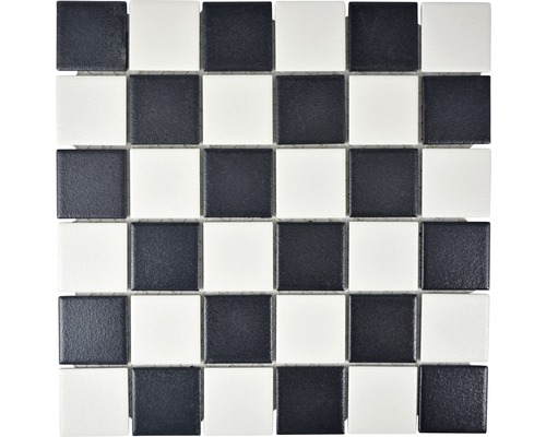Keramikmosaik SAT 348 30x30 cm schwarz/weiß