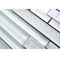 Glasmosaik Sonja 11 30x29,2 cm weiß