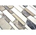 Natursteinmosaik MOS Brick 295 27,5x30 cm beige/braun