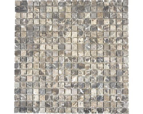Natursteinmosaik MOS 15/85 30,5x30,5 cm braun