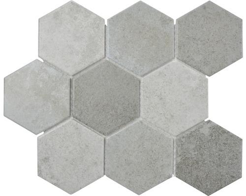 Keramikmosaik CIM HX9 CM 25,6x29,5 cm grau