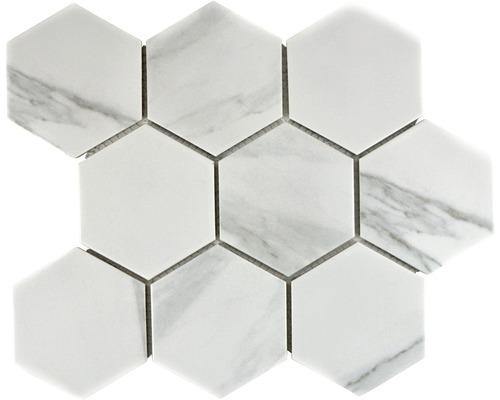 Keramikmosaik CIM HX9 CR 25,6x29,5 cm weiß