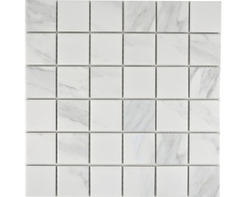 Keramikmosaik CIM Q48 CR 30,6x30,6 cm weiß