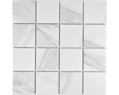 Keramikmosaik CIM Q73 CR 30,6x30,6 cm weiß