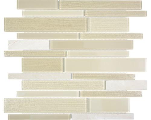 Glasmosaik CM GV14 28,6x30 cm mix beige
