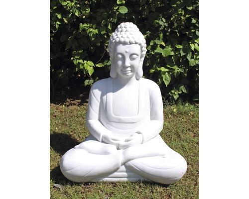 Gartenfigur Kunststein 30,5x43x56 cm weiß