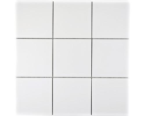 Keramikmosaik CQ 105 30x30 cm weiß matt