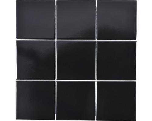 Keramikmosaik CQ 125 30x30 cm schwarz matt