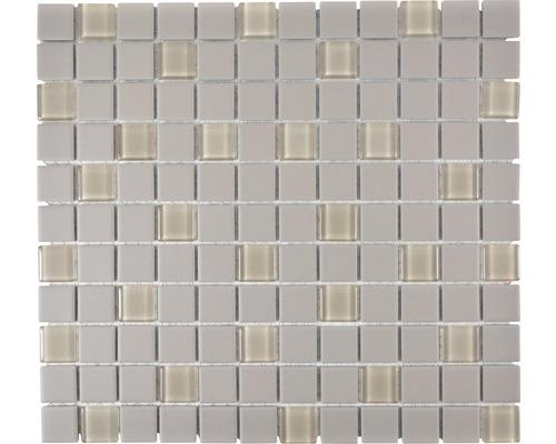 Keramikmosaik CU G100 32,7x30,2 cm grau