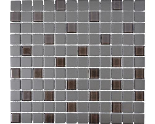 Keramikmosaik CU G110 32,7x30,2 cm mix grau
