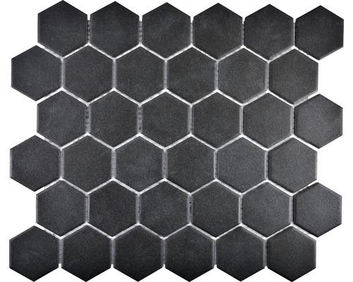 Keramikmosaik CU HX189 32,5x28,1 cm schwarz