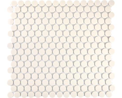 Keramikmosaik CU K220 31,5x29,4 cm weiß