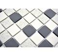 Keramikmosaik CU QR210 30,25x33,0 cm creme/schwarz