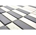Keramikmosaik CU ST210 30x30 cm creme/schwarz