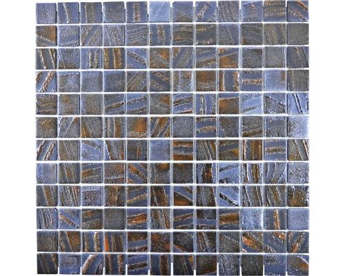 Glasmosaik Tina 07 31,5x31,5 cm blau/braun