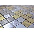 Glasmosaik Tina 357 31,5x31,5 cm schwarz/gold