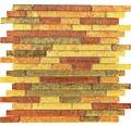 Glasmosaik XCM 8AL39 30x30 cm braun/gold/orange