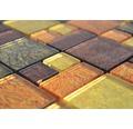 Glasmosaik XCM 8AL49 30x30 cm braun/gold/orange