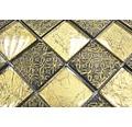Glasmosaik XCM 8OP7 30x30 cm gold