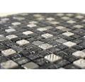 Glasmosaik XCM ZEUS 30x30 cm weiß/silber/schwarz
