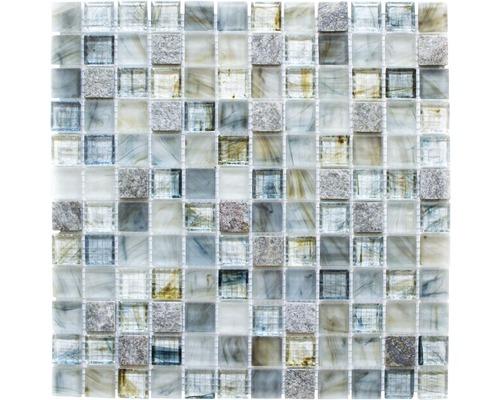 Glasmosaik XCR 2505 30,2x30,2 cm grau