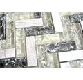 Glasmosaik XIC HB1552 26,3x29,3 cm grau/grün