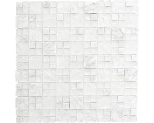 Glasmosaik XIC K1411 30,5x30,5 cm weiß