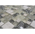 Glasmosaik XIC K1452 30,5x30,5 cm grau/grün