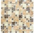 Glasmosaik XIC K1453 30,5x30,5 cm braun/beige
