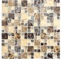 Glasmosaik XIC K1455 30,5x30,5 cm braun/beige