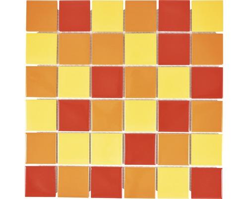 Keramikmosaik CD B2357 30,6x30,6 cm gelb/rot/orange