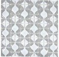 Glasmosaik WAVY 15 30x30 cm grau