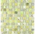 Glasmosaik Muschel XCM CN24 30x30 cm grün