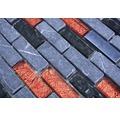 Keramikmosaik XCM IL027 29,8x30,4 cm grau/schwarz/rot