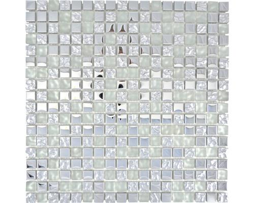 Glasmosaik XCM M600 30x30 cm silber