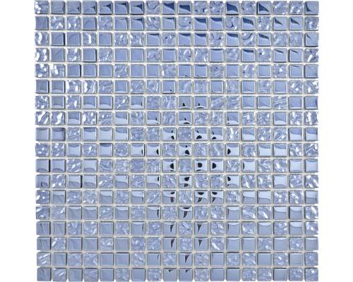 Glasmosaik XCM M630 mix Platin 30x30 cm