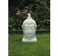 Gartenfigur Kunststein 31x30x55 cm weiß