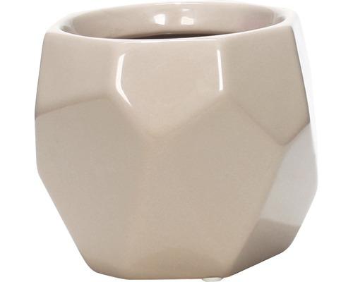 Übertopf Keramik Diamond Ø 10,5 cm taupe