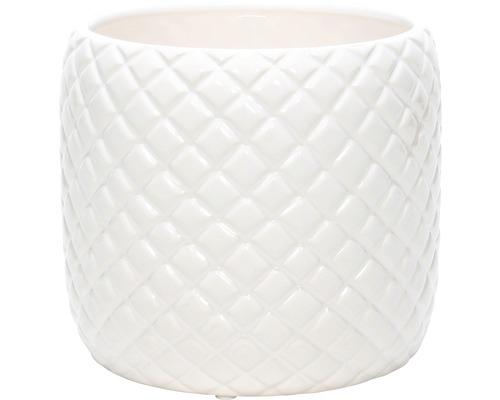 Übertopf Keramik Pinapple Ø 10,5 cm weiß
