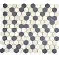 Keramikmosaik CU HX210S 30x26,0 cm creme/schwarz